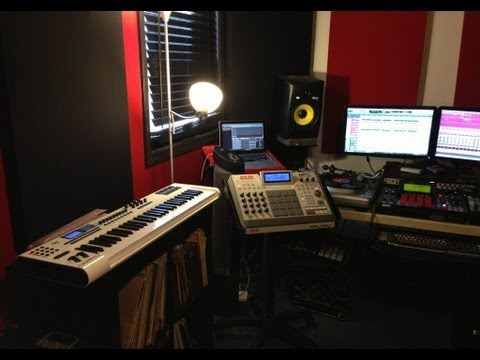 Studio Tour - Akai MPC Renaissance, Vocal Booth Build, iPhone 5 Video Test