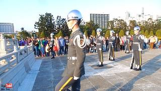 Soldiers Flag Lowering Ceremony at Chiang Kai Shek Memorial Hall, Taipei, Taiwan