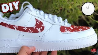 CUSTOM AIR FORCE 1's x LOUIS VUITTON - (Stop Motion) + (Timelapse Tutorial)