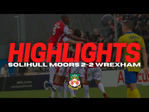 Solihull Wrexham Goals And Highlights