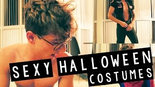 TRYING ON WEIRD HALLOWEEN COSTUMES!