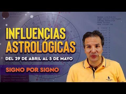 Influencias Astrol�gicas del 29 de Abril al 5 de Mayo - Signo por Signo