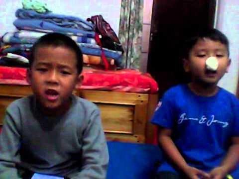 my brothers singing happy birthday to my friend