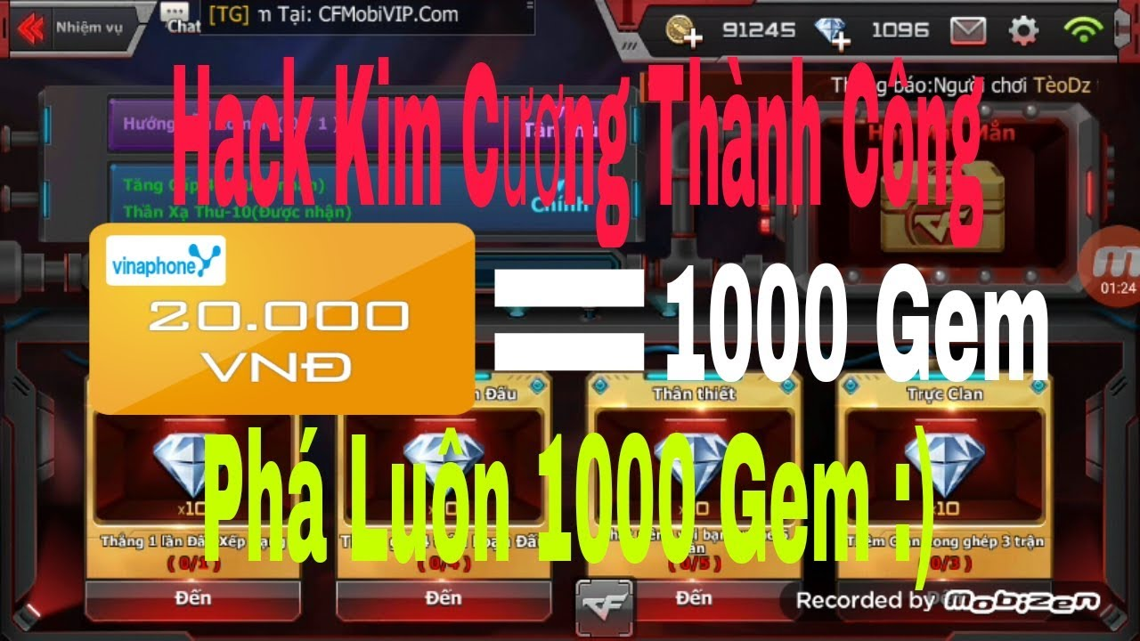 Hack Gem Thành Công,Phá Luôn 1000 Gem