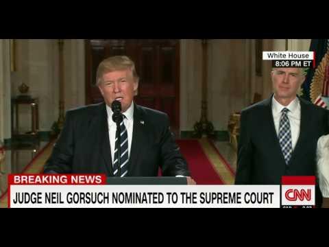 Donald Trump Nominates Neil Gorsuch To The Supreme Court HD