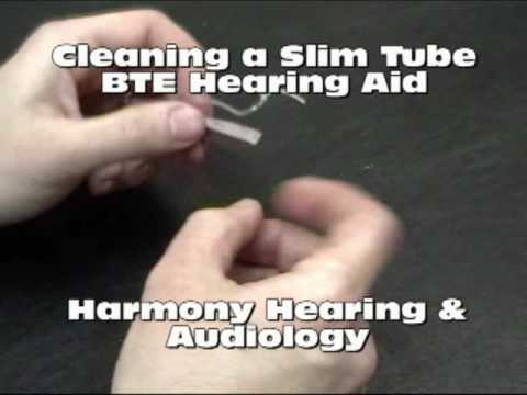 Cleaning A Slim Tube BTE Hearing Aid - Harmony Hearing