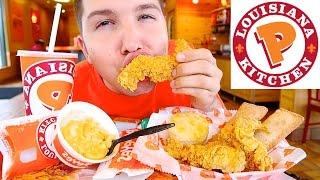 Popeyes  Extra Crispy &amp Spicy Deep Fried Chicken  MUKBANG