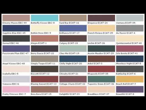 Exterior Paint Color Charts
