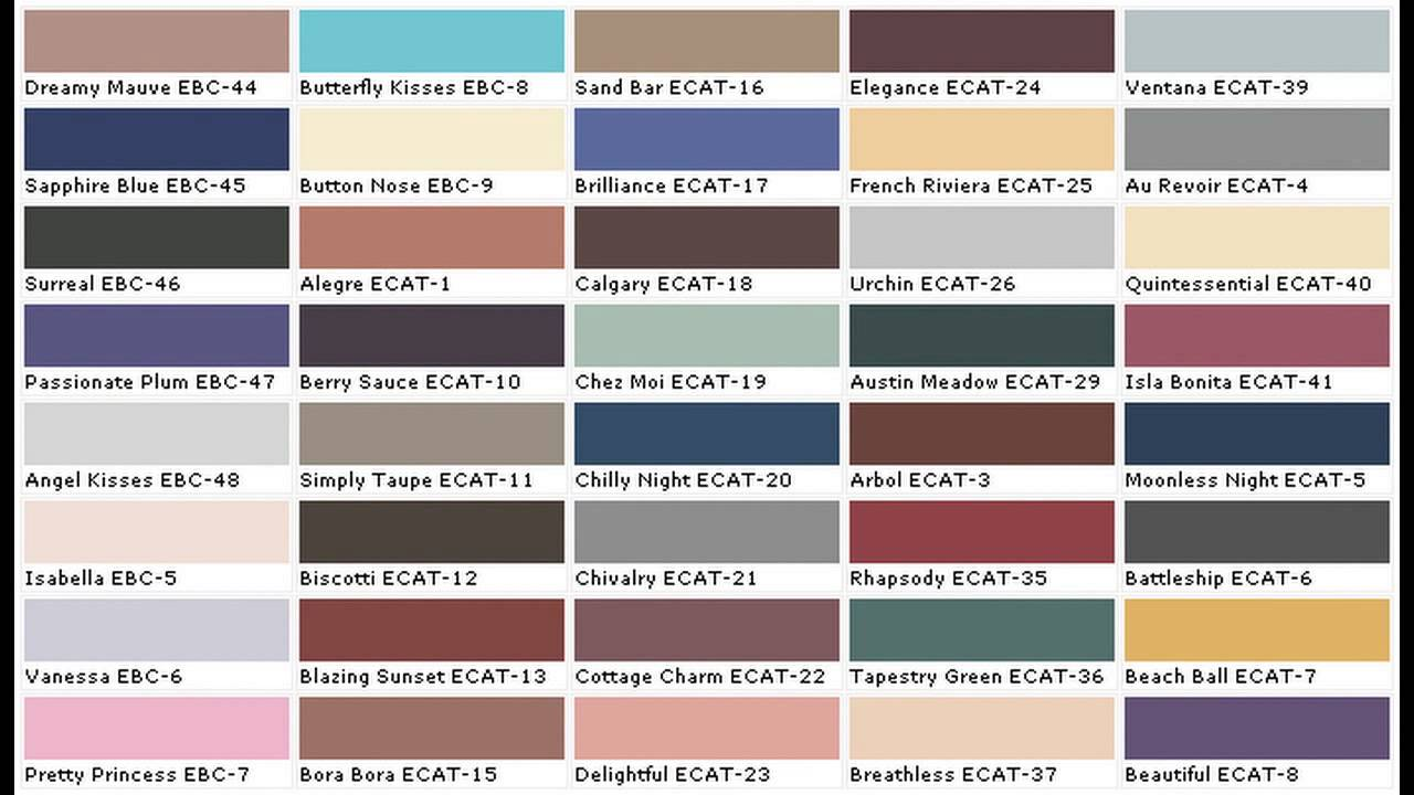 Exterior Paint Color Charts