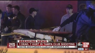 1 dead, 7 wounded at strip club shooting in Tampa