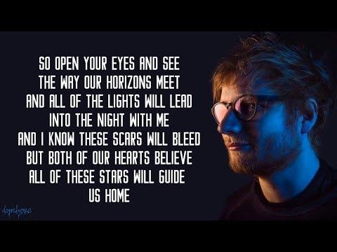 All Of The Stars - Ed Sheeran (Lyrics)