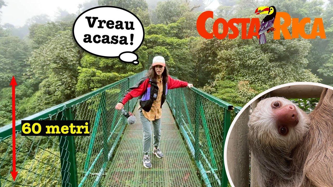 PANICA in jungla: traversam celebrele PODURI suspendate din COSTA RICA