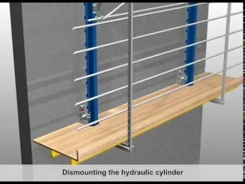 Automatic climbing formwork Xclimb 60 - Climbing sequence [EN]