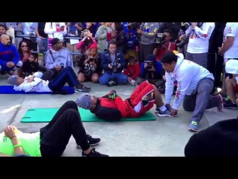 Manny Pacquiao training at Pan Pacific Park 04/02/16