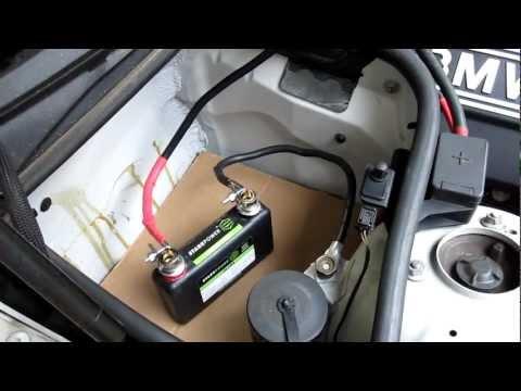 "StarkPower, 12V ""Ultra"" Lithium Starter Battery Demo on BMW 328"