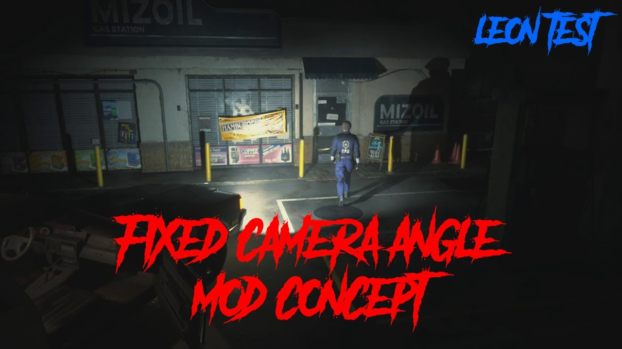 Someone is working on a fixed camera mod for Resident Evil 2 Remake
