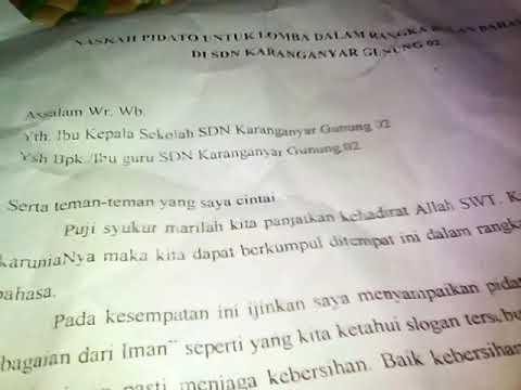 Contoh Teks Pidato Bahasa Indonesia Youtube