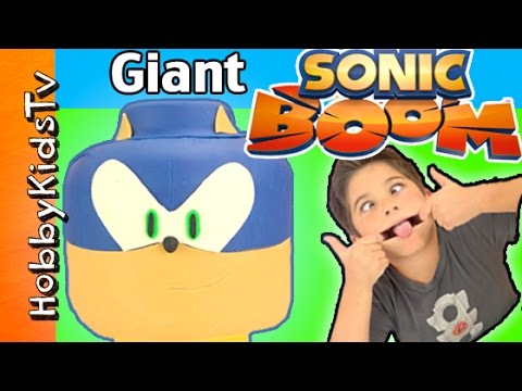 GIANT Play-Doh Lego Head SONIC BOOM Makeover! New Toys Review By HobbyKidsTV