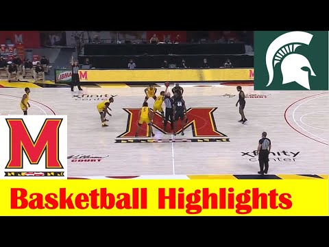 Michigan State vs Maryland Basketball Game Highlights 2 28 2021