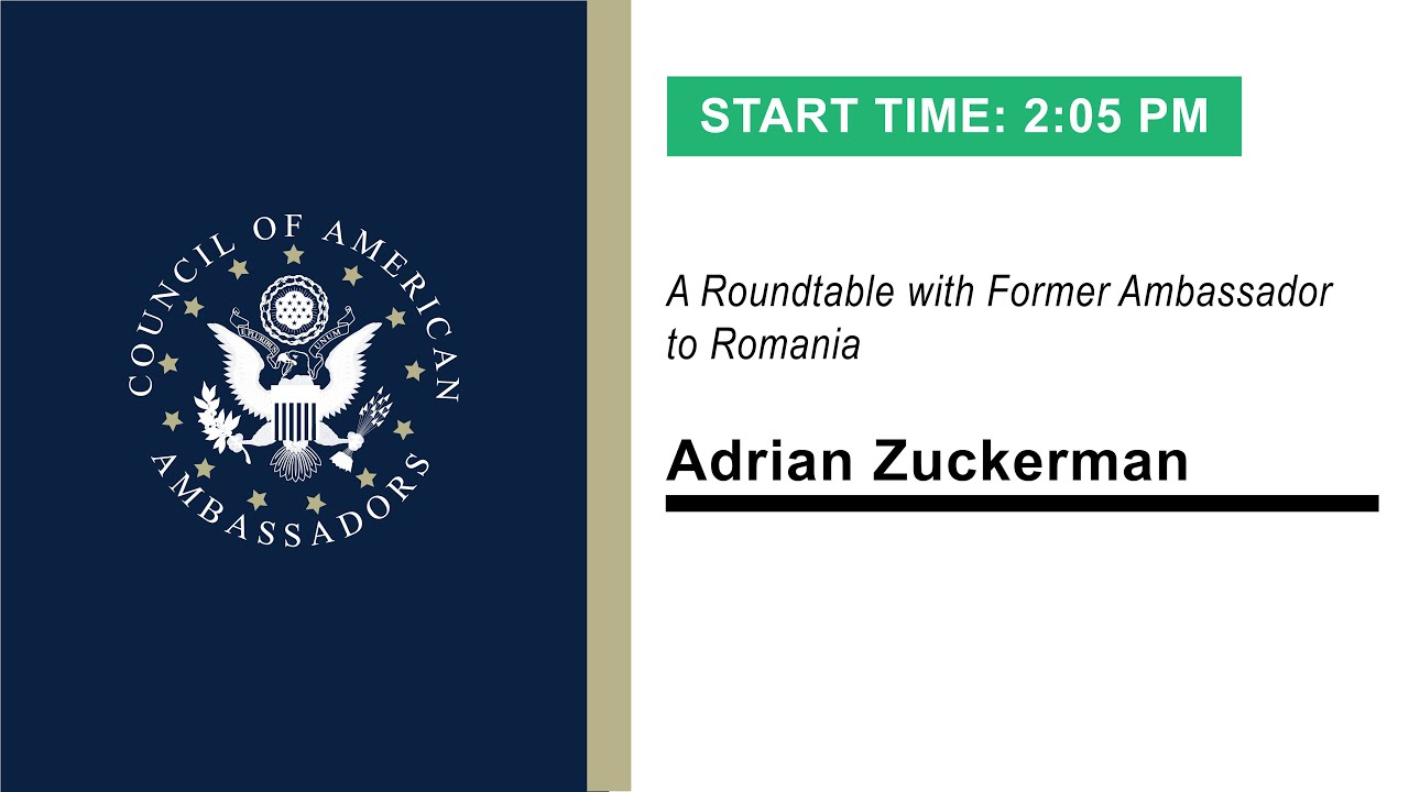 A Tremendous Partnership: A Roundtable with Ambassador Adrian Zuckerman