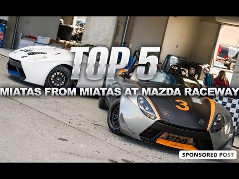 Our  Favorite Miatas From Miatas At Mazda Raceway