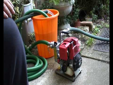 Honda Wx10 Gx31 Water Pump 1st Test Run Youtube