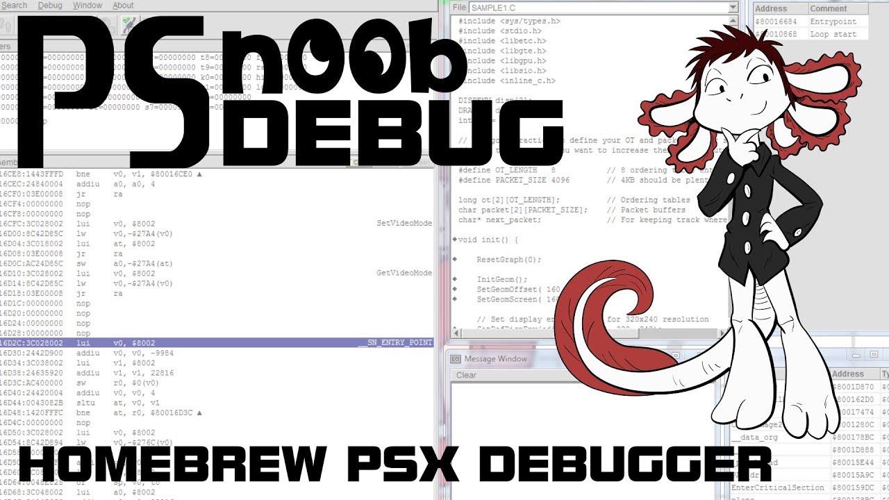 PSn00b Debugger - Homebrew debugger for retail consoles