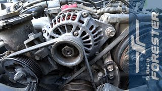 Замена генератора на Subaru (Forester, Impreza, Legacy, Outback)
