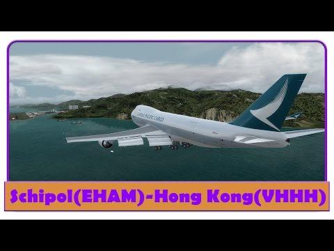 [P3D] CPA270 | Amsterdam-Hong Kong | PMDG 747 v3 Cargo | Cathay Pacific |