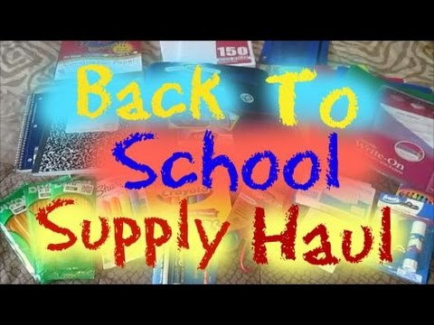 BACK TO SCHOOL SUPPLY HAUL | 5TH GRADE