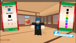 Roblox Naruto oa creating my character