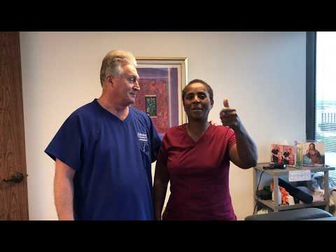 Houston Chiropractor Dr Gregory Johnson Adjust Nassau Bahamas Lady Who Is Happy She Made Trip