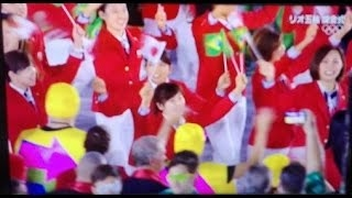 リオ・オリンピック、日本選手団堂々と入場行進!! オリンピックが平和の祭典でありますように