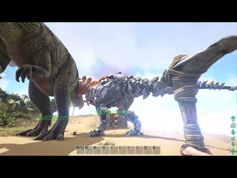 How to spawn in a Giganotosaurus,alpha t-rex,and a t-rex in ark