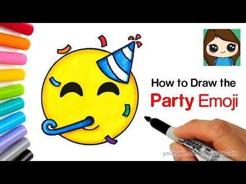 How to Draw the Party Emoji Easy