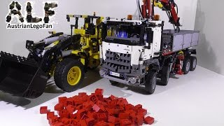 Lego 42030 Volvo Wheel Loader & 42043 MB Arocs 3245 in Business - Lego Fun Review