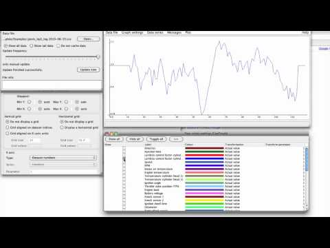 Using Live-Graph to view GS-911 real-time data logs