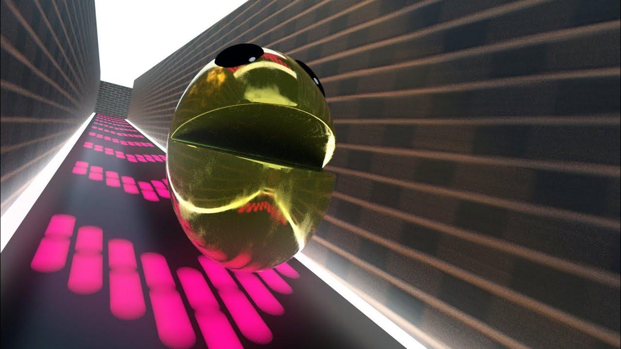 Metal Pacman crazy maze adventure