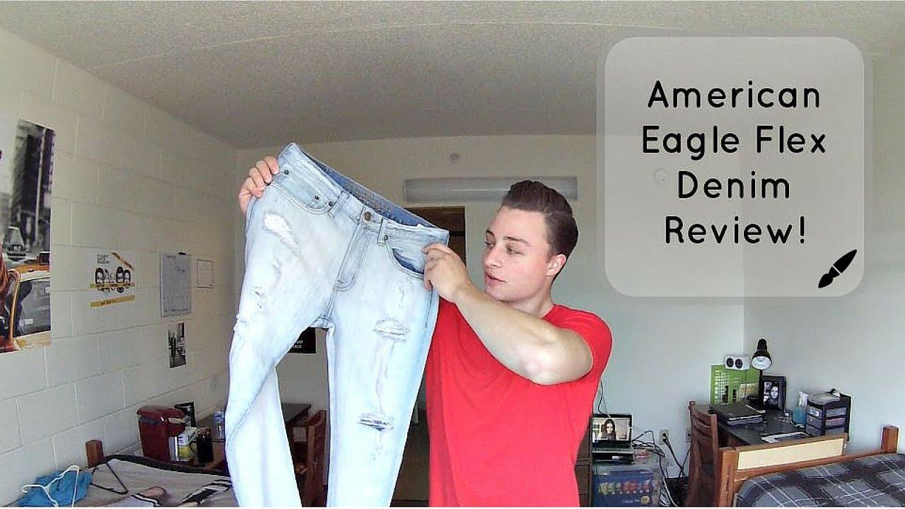 American Eagle Flex Denim Review Comfortable Jeans For Men Youtube
