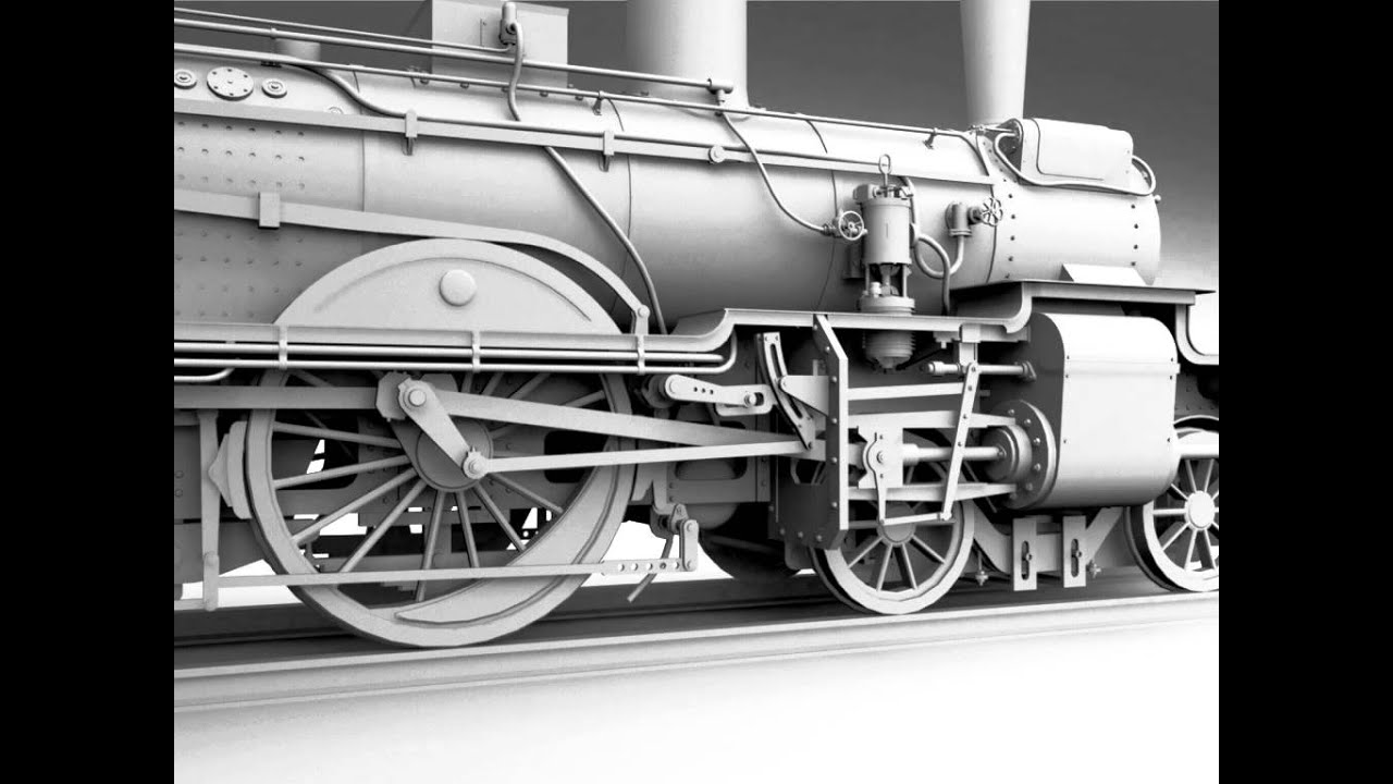 Prussian P4 Steam Locomotive 3D model from CGTrader com