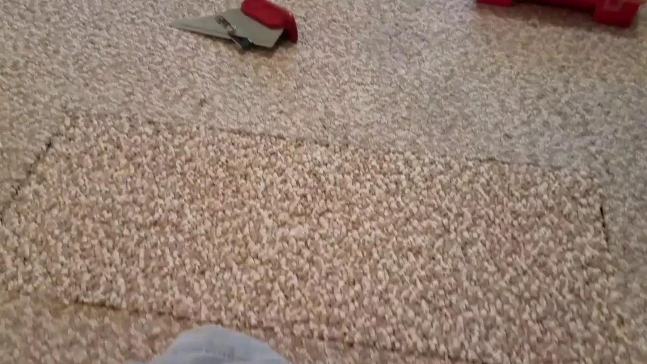 Full Loop Berber Carpet Repair In Heavy Traffic Area