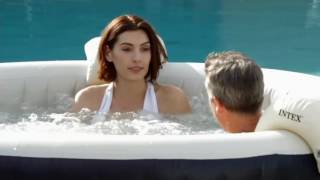 Intex Pure Spa Portable Hot Tub w/ Headrest & Extra Filters on QVC