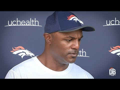 After practice: Defensive Coordinator Joe Woods