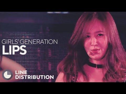 GIRLS' GENERATION - Lips (Line Distribution)