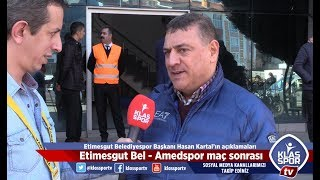 Etimesgut Belediyespor Amedspor maçı sonrası