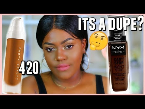 10hr Wear TEST | Alissa Ashley NYX Can't Stop Won't Stop vs Fenty