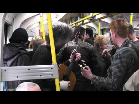 Irish Band On The London Underground