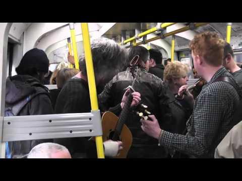 Irish Band On The London Underground