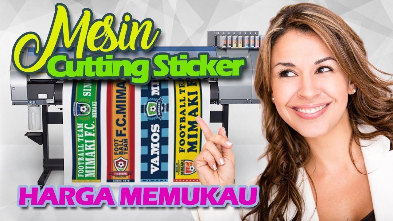 Mesin print sticker printer cetak stiker vinyl jinka xl pro alat potong plastik poliflex