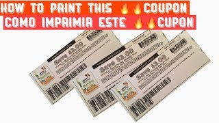 How to print this 🔥coupon 🐶/ como imprimir este 🔥cupón 🐶